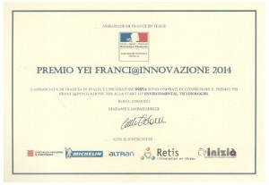 Il premio ha come obiettivo favorire lo sviluppo di partenariati tecnologici tra giovani innovatori italiani ed i protagonisti dell'innovazione in Francia.